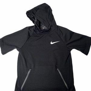 Nike Short Sleeve Hoodie Dri-Fit Large